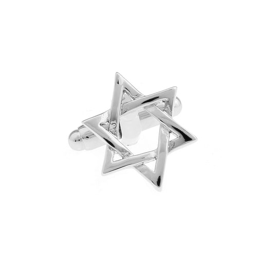 Israel Flag Cufflinks 6 Point Star Front