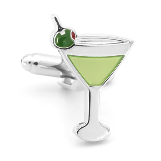 Cocktail Martini Glass Cufflinks Front Image