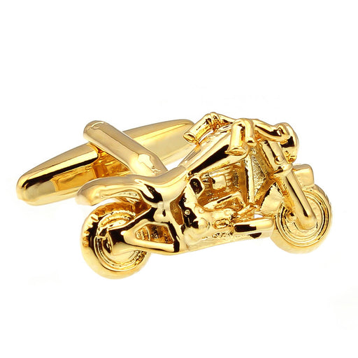 Gold Motorcycle Cufflinks Harley Davidson Front
