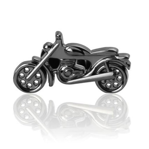 Motorycycle Cufflinks Gunmetal Black Classic Front