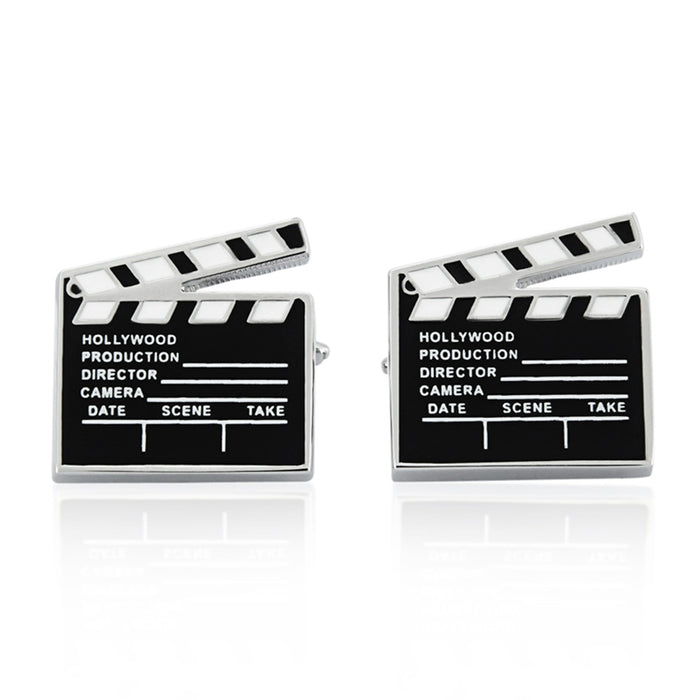 Cufflinks - Movie Director Scene Clapper Board