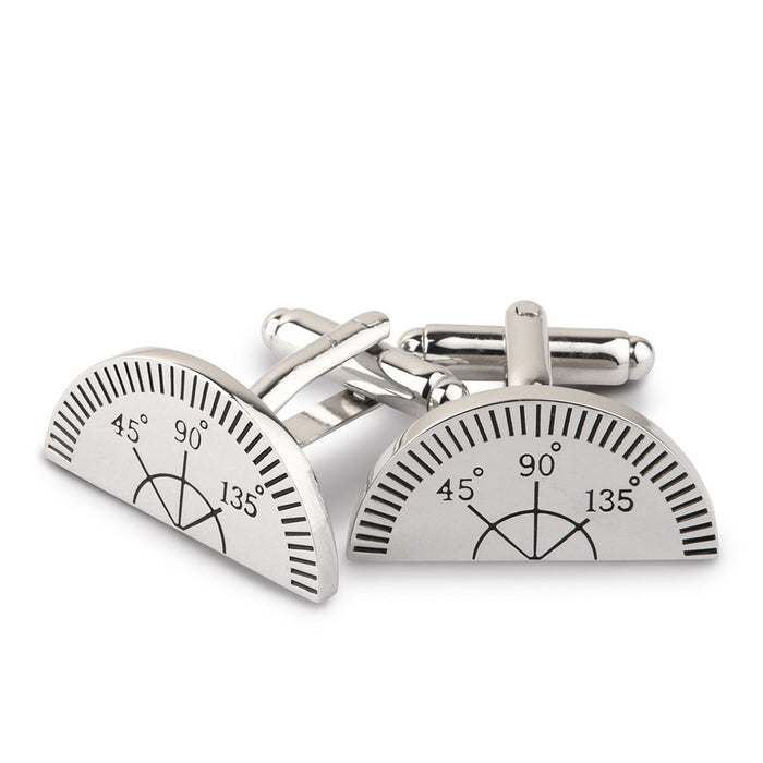 Cufflinks - Protractor Measuring Tool