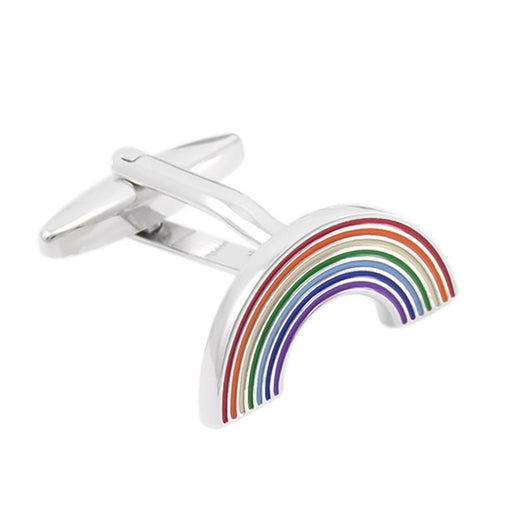 Rainbow Cufflinks Nation Silver Image Front
