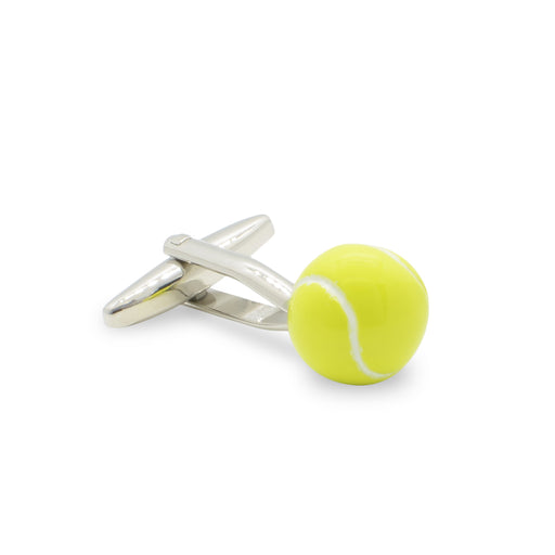 Tennis Ball Cufflinks silver Side View