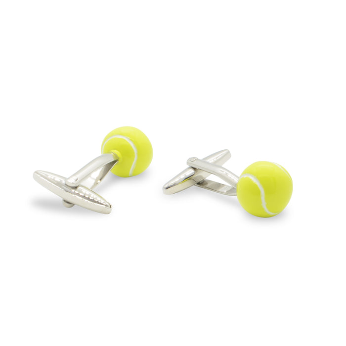 Tennis Ball Cufflinks silver Pair