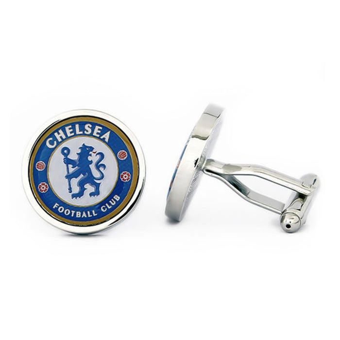 Chelsea Cufflinks Football Club Silver Image Pair