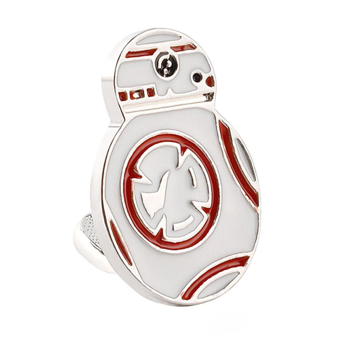 Star Wars BB-8 Droid Cufflinks Silver White Image Front