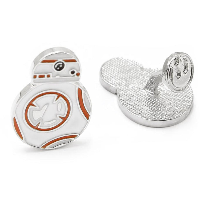 Star Wars BB-8 Droid Cufflinks Silver White Image Pair