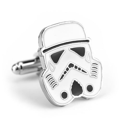 Star Wars Storm Trooper Cufflinks Flat White Image Front