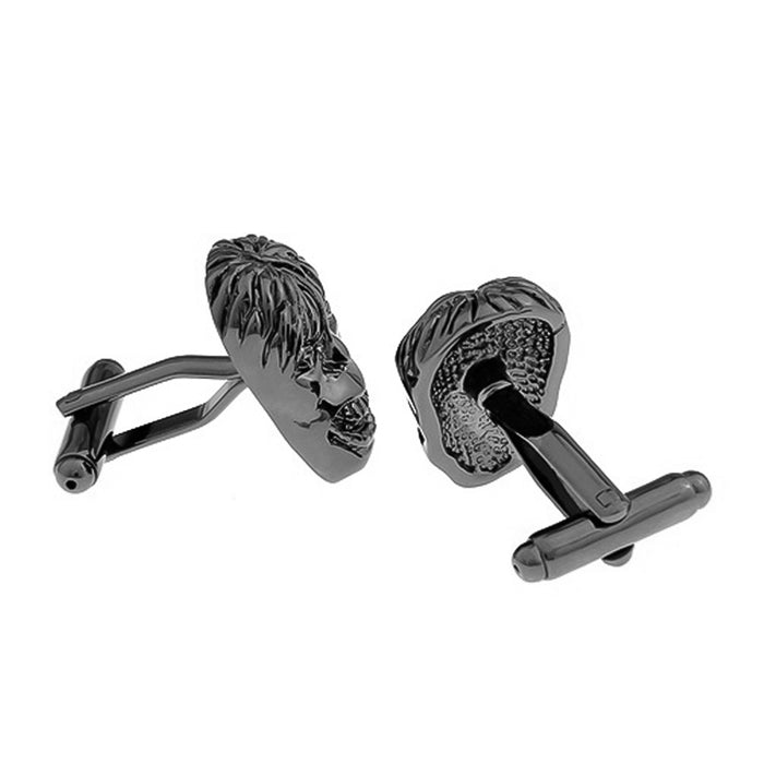 Hulk Cufflinks Gunmetal Black Front and Back