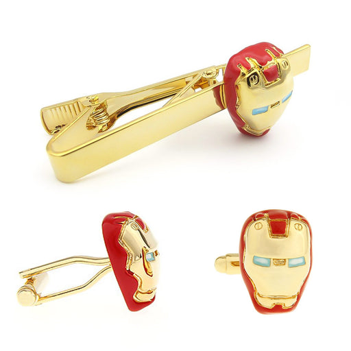 Cufflink & Tie Clip Set - Superhero Iron Man