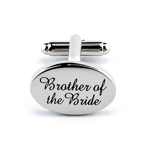Brother Of The Bride Cufflinks Silver Wedding Front Image