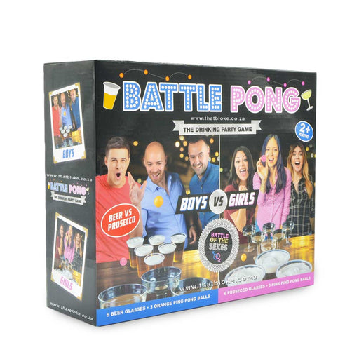 Battle Pong Boys & Beer vs Girls & Prosecco Drinking Game Box Image