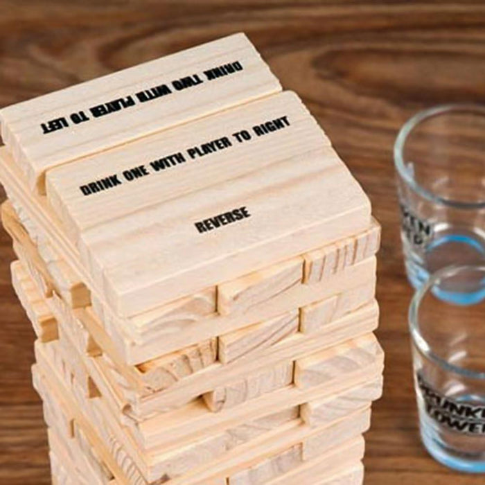 Drunkin Jenga Drinking Game Play Image Blocks 1