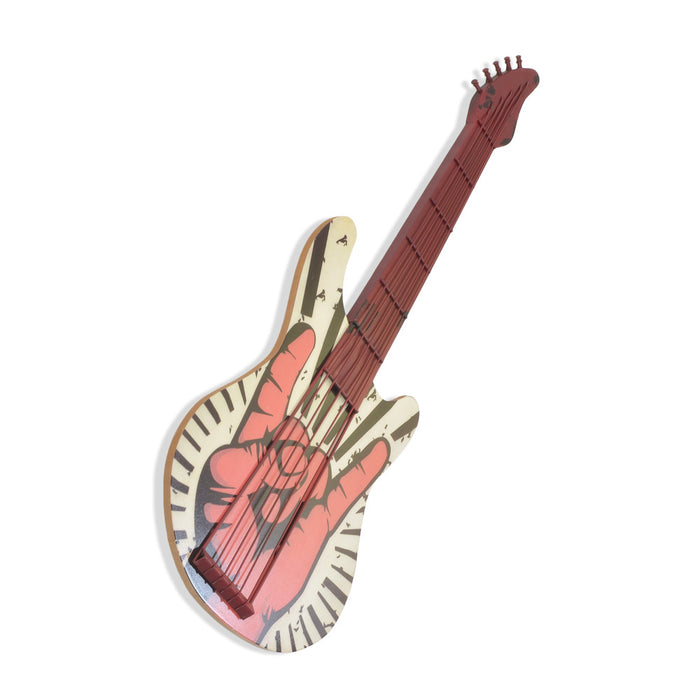 Electric Guitar Wall Decor - Rock 'n' Roll Hand Sign | That Bloke