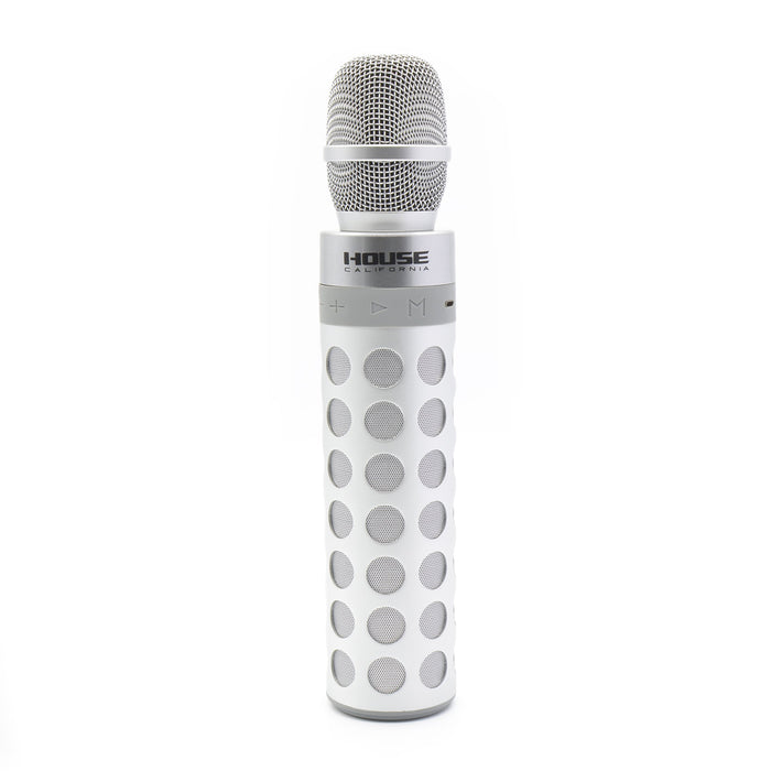 House California Music Bluetooth Speaker And Mic Silver Front