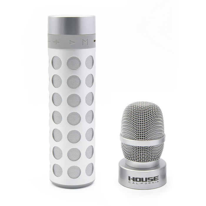 House California Music Bluetooth Speaker And Mic Silver Seperate