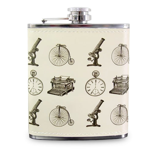 Gentleman's Emporium Hip Flask Men's Gift Stainless Steel Front