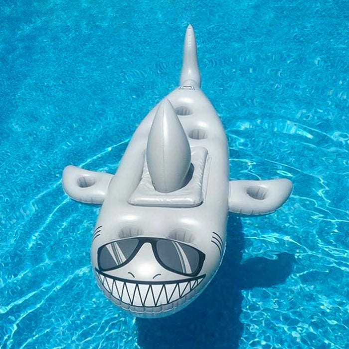 Inflatable Shark Swimming Pool Bar (Cooler and Drink Holder)