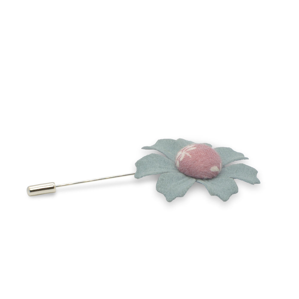 Lapel Pin - Button Flower (Seattle Grey) | That Bloke