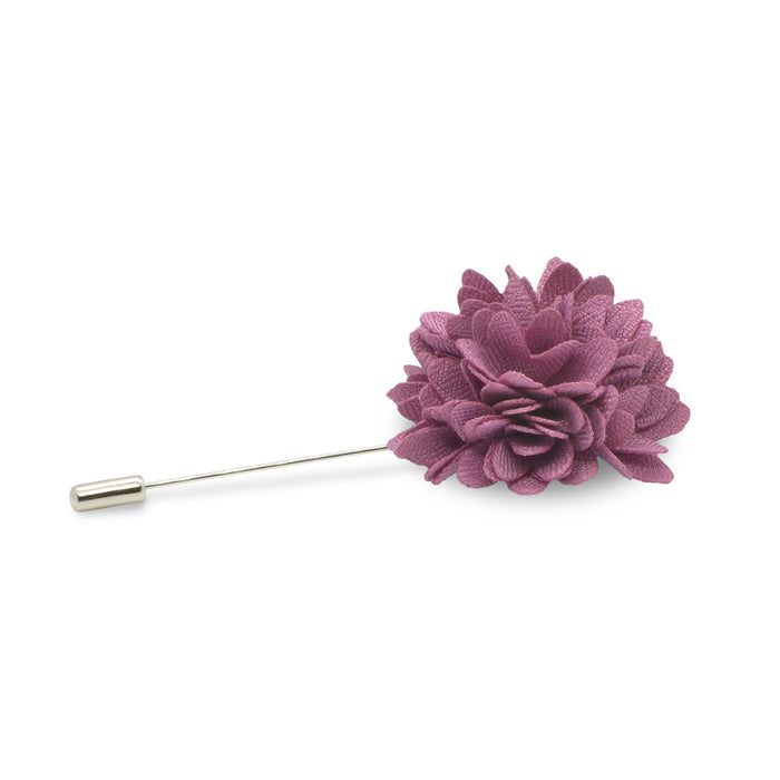 Lapel Pin - Flower (Mulberry Purple) | That Bloke