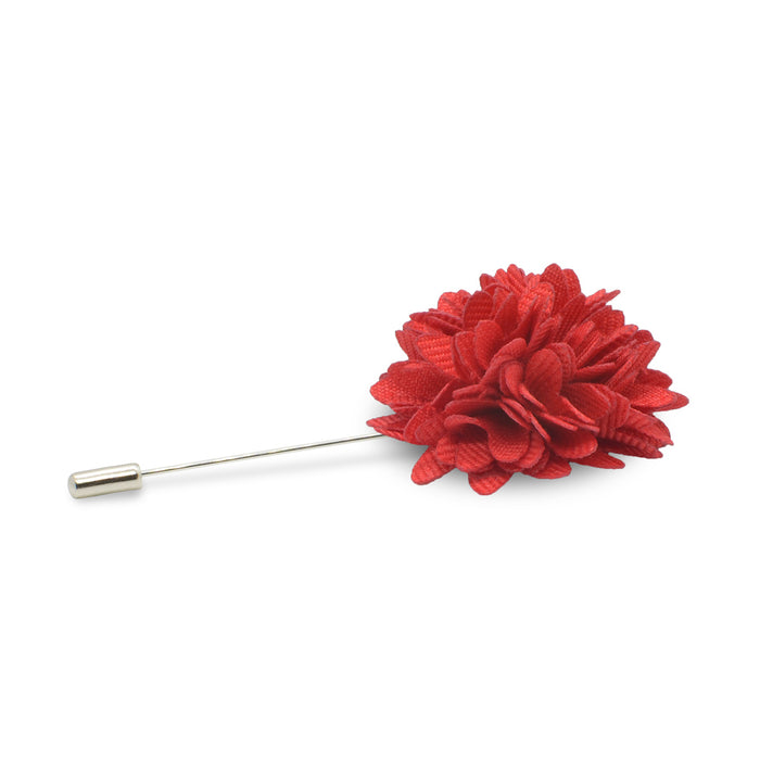 Lapel Pin - Red Flower (Ruby Red)
