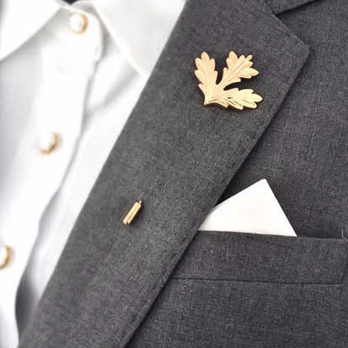 Lapel Pin - Leaf (Gold Metal) | That Bloke