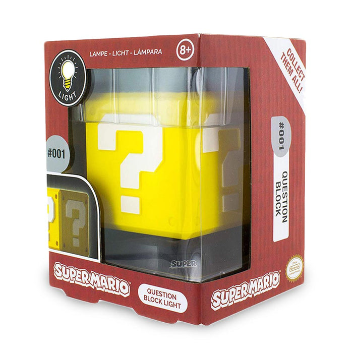 Super Mario Question Block Light Yellow Boxed