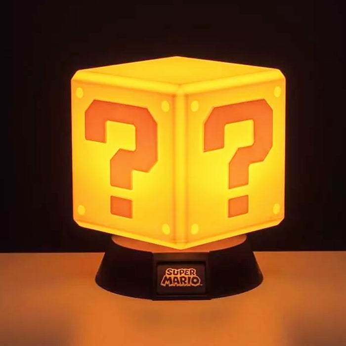 Super Mario Question Block Light Yellow Illuminated