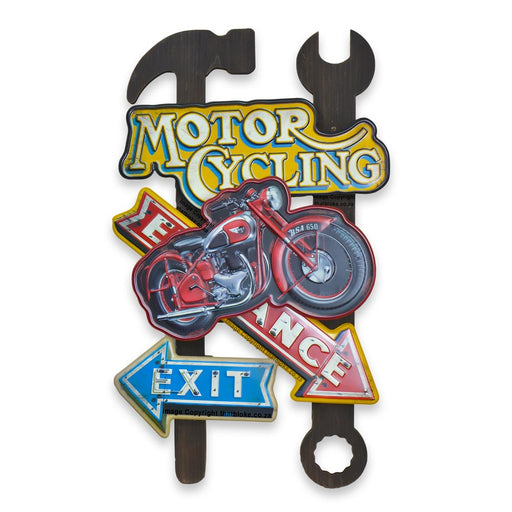 Retro BSA 650 Motorcycle Metal Sign For Man Cave
