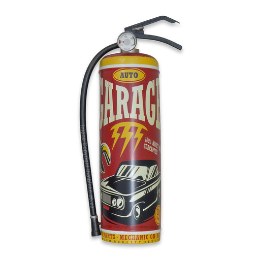 Retro Car Auto Garage Fire Extinguisher Metal Sign