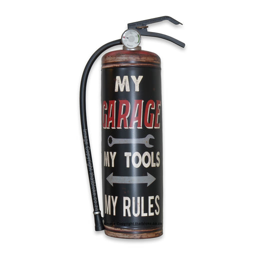 My Tools My Rules My Garage Fire Extinguisher Metal Sign For Man Cave