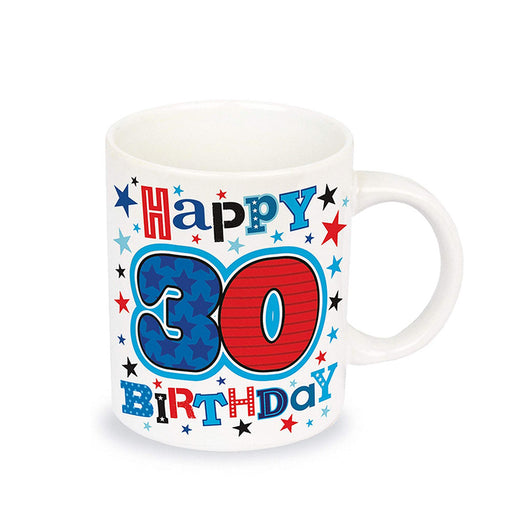 30th Birthday Mug Colourful Fine China Image