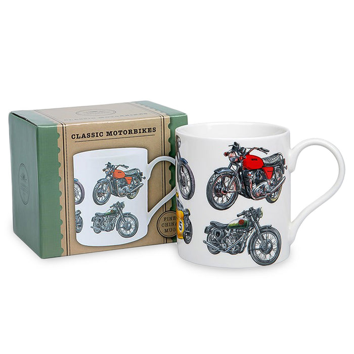 Classic Motorcycle Mug Vintage Men's Gift Boxed