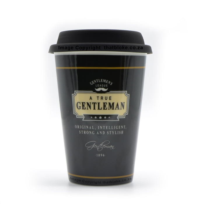 Coffee Travel Mug For Gentlemen Original Intelligent Strong Stylish Black