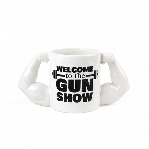 Welcome To The Gun Show Mug White Black Image Front