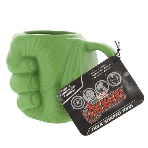 Hulk Mug Green Hand Ceramic Side Image