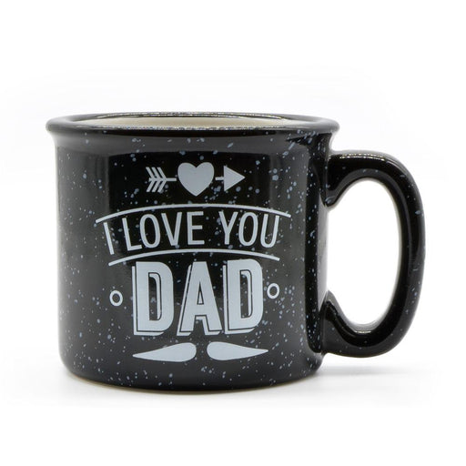 I Love You Dad Mug Black With Grey Texture Ceramic Image Front