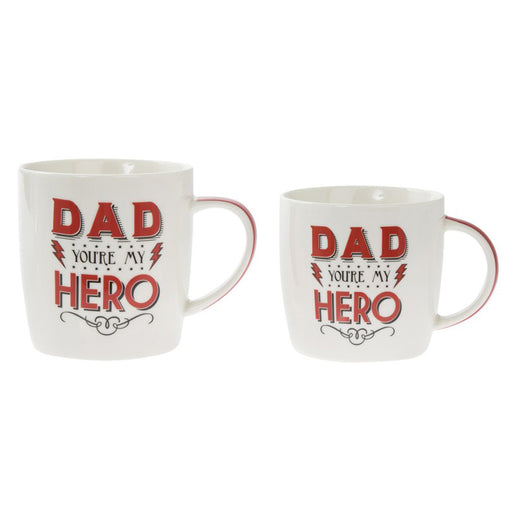 Dad You're My Hero Mug (Set of 2)