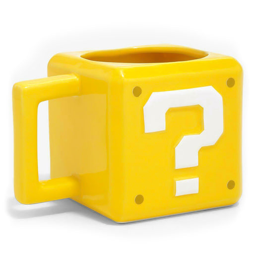 Super Mario Question Block Mug For Gamers Yellow and White