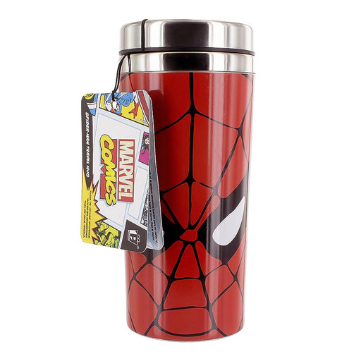 Spider-Man Travel Mug Red Stainless Steel Front Image