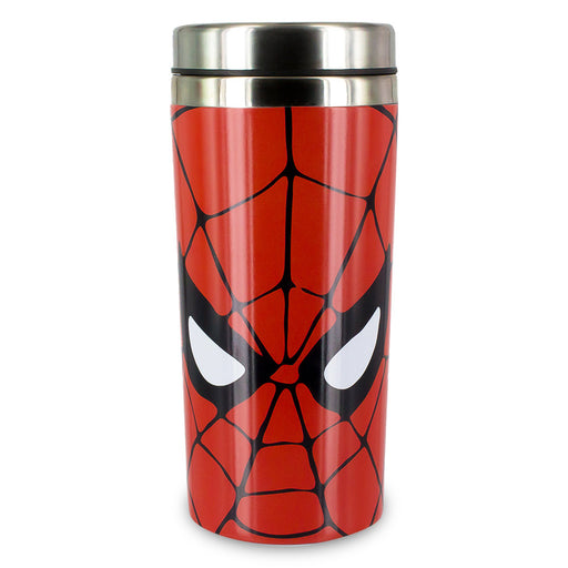 Spider-Man Travel Mug Gift Red Stainless Steel Front