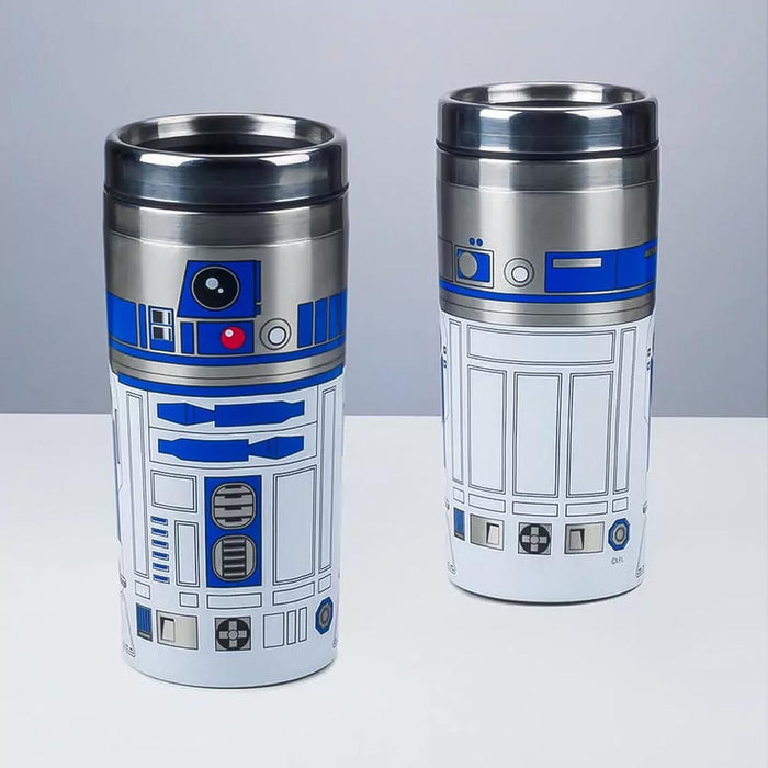 Star Wars Travel Mug R2-D2 Stainless Steel Front Back Pair Image