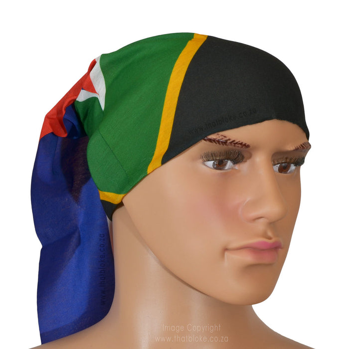 South African Flag Bandana Multi-Functional Buff Image On Head