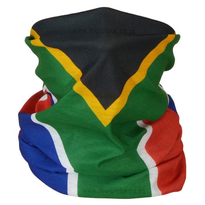 South African Flag Bandana Multi-Functional Buff Image Microfiber Polyester