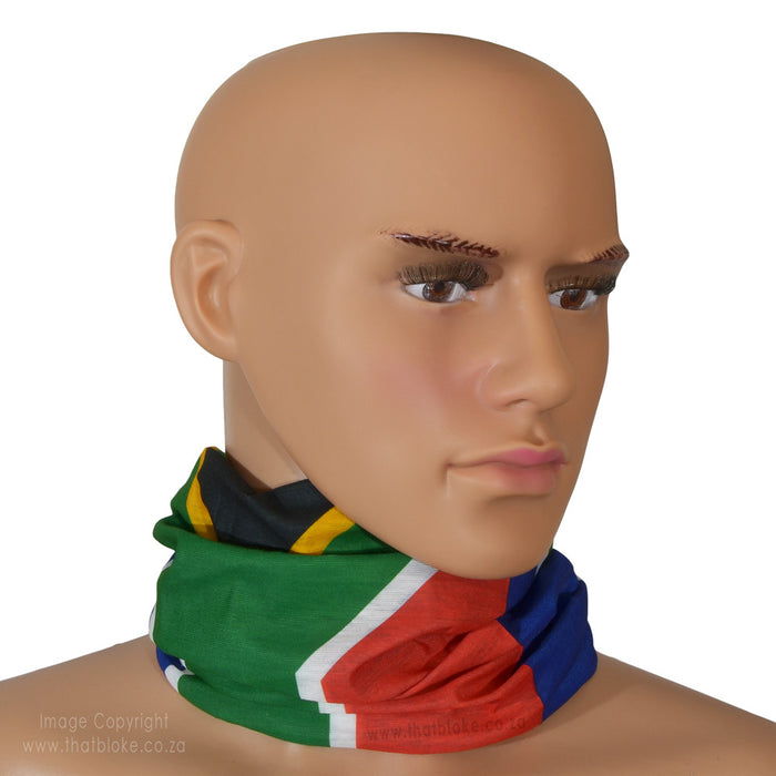 South African Flag Bandana Multi-Functional Buff Image On Neck