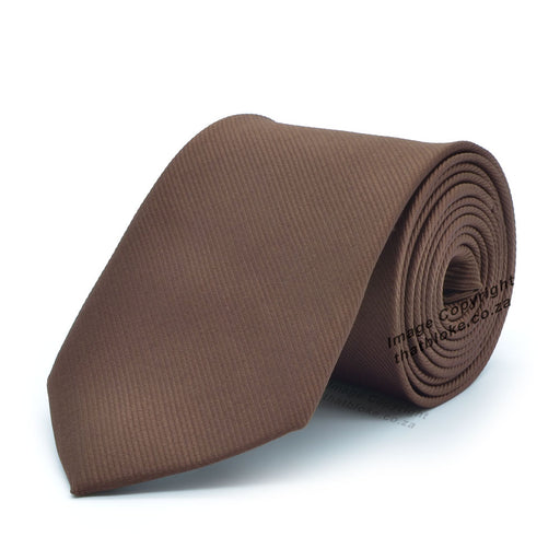 Chocolate Brown Tie Soft Polyester