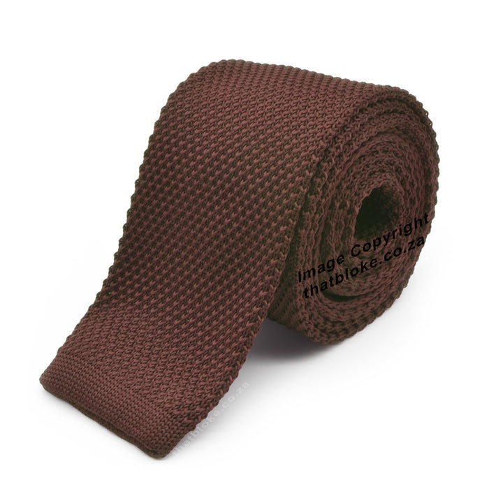 Light Chocolate Brown Tie Knitted