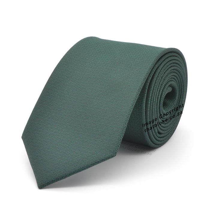 Slim Dark Green Tie Patterned Polyester