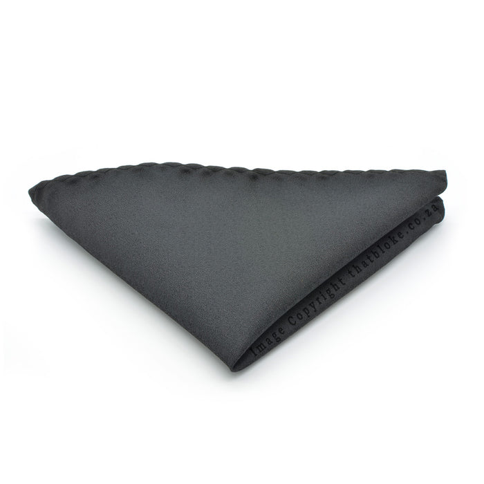 Glossy Black Pocket Square Silk Suit Accessory
